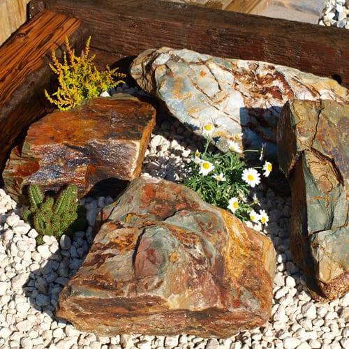 Rustic Slate Rockery - Alpine Garden