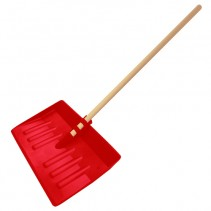 Snow Shovel Red