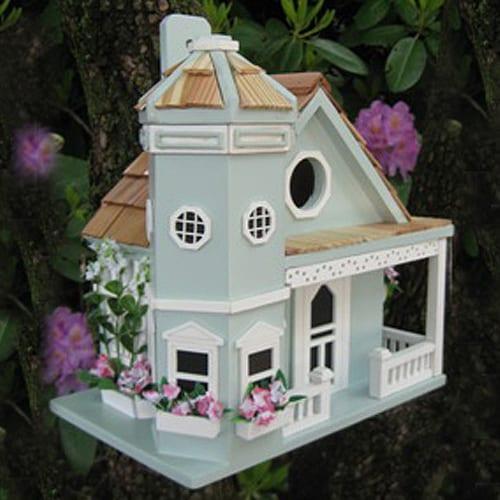 flowerpot cottage blue
