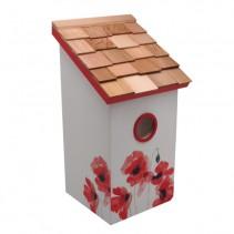 Saltbox Poppy Birdhouse