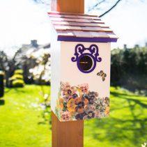 Printed-Saltbox-Birdhouse---Butterfly-Plum