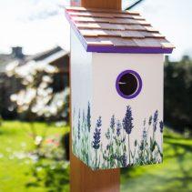 Printed-Saltbox-Birdhouse---Lavender