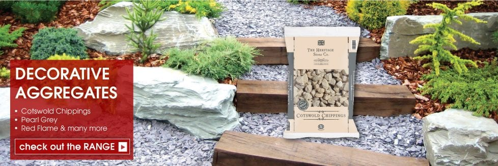 Decorative Aggregates - Cotswold Chippings, Pearl Grey, Red Flame and many more
