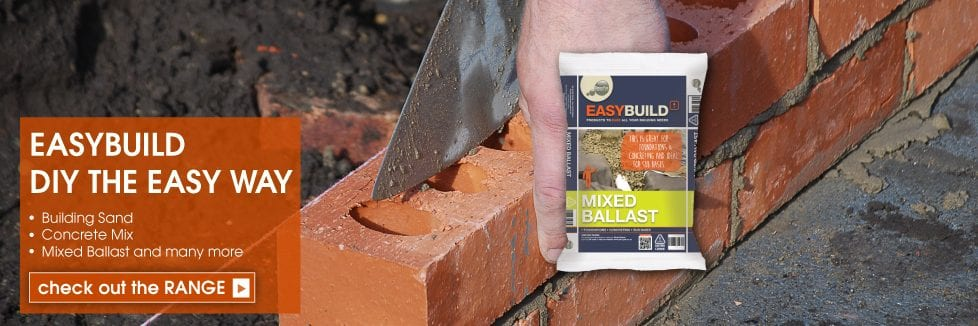 EasyBuild - DIY the easy way - Building Sand, Concrete Mix, Mixed Ballast and many more
