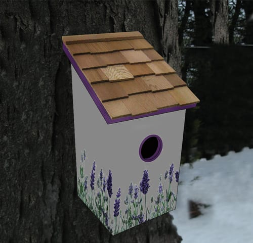 Printed Birdhouse Lavender