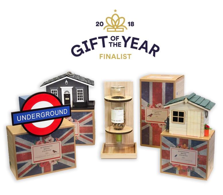 Gift of the Year 2018 - Finalists - Underground Birdhouse, 10 Downing Street Bird Feeder, Wine Bottle Bird Feeder, Garden Shen Birdhouse - Quintessentially British Birdhouses and Feeders Range